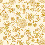 Vector flower seamless pattern Stock Image