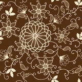 Vector flower seamless pattern Stock Photo