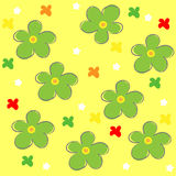 Vector flower seamless pattern Stock Images