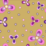 Vector flower seamless pattern background. Elegant texture for backgrounds. Stock Image