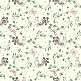 Vector flower seamless pattern background. Elegant texture for backgrounds. Stock Photography