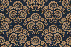Vector flower seamless pattern background. Elegant texture for backgrounds. Royalty Free Stock Photography