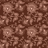 Vector flower seamless pattern background. Elegant texture for backgrounds. Classical luxury old fashioned floral Stock Image
