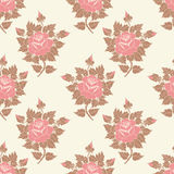 Vector flower seamless pattern background. Elegant texture for backgrounds. Classical luxury old fashioned floral Royalty Free Stock Images