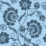 Vector flower seamless pattern element. Elegant texture for backgrounds. Classical luxury old fashioned floral ornament Royalty Free Stock Images