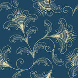 Vector flower seamless pattern element. Elegant texture for backgrounds. Classical luxury old fashioned floral ornament Stock Photos