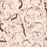 Vector flower seamless pattern element. Elegant texture for backgrounds. Classical luxury old fashioned floral ornament. Seamless texture for wallpapers stock illustration