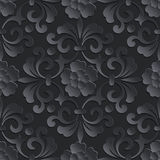 Vector flower seamless pattern element. Volumetric Royalty Free Stock Photography