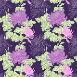 Vector Flower Seamless Pattern Royalty Free Stock Image