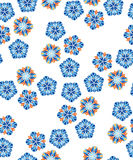 Vector flower seamless pattern. Royalty Free Stock Images