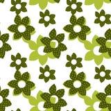 Vector flower seamless pattern Stock Photos