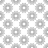 Vector flower seamless pattern Royalty Free Stock Photo