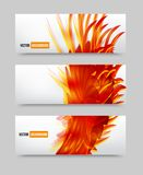 Vector flower set banner . brochure template Stock Photo