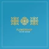 Vector flower shop logo Stock Photo