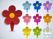 Flower Spring Pin Sticker Icon Royalty Free Stock Photography