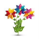 Vector Flower Symbol. Fresh Garden Flowers Isolated. On White Background vector illustration