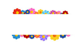 Vector flower tag Stock Image