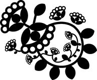 Vector flower tattoo element, ornament. Vector flower tattoo element, black and white ornament royalty free illustration