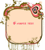 Vector flower text Stock Image