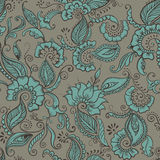 Vector Flower Textile. Floral seamless pattern of fabric Stock Images