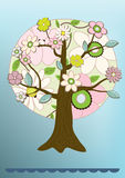 Vector flower tree card Stock Photo