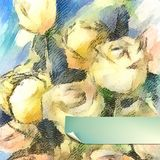 Vector Flower Watercolor Roses Stock Photography