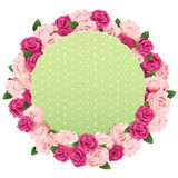Vector Flower Wreath with Greeting Card Stock Photography