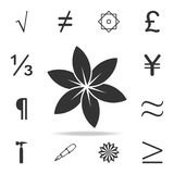 Vector flowericon. Detailed set of web icons and signs. Premium graphic design. One of the collection icons for websites, web desi. Gn, mobile app on white royalty free illustration
