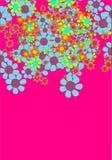 Vector flowers. Digital art colorful  flowers Stock Photos