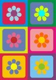 Vector flowers. Digital art colorful  flowers Royalty Free Stock Image