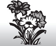Vector flowers. Decorative flowers in a vase, vector illustration royalty free illustration