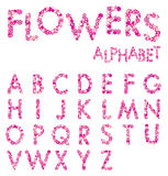 Vector Flowers Alphabet Stock Photos