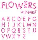 Vector Flowers Alphabet Stock Photos