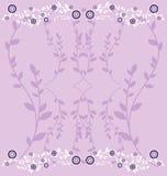 Vector Flowers background. Greetings card design stock illustration