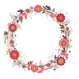 Vector flowers decorative wreath Royalty Free Stock Photos