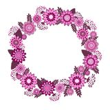 Vector flowers decorative wreath Stock Photos