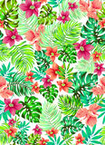 Vector flowers. Vector floral pattern. seamless aloha design. colorful pattern for childrens fashion Stock Photos