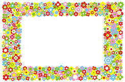 Vector Flowers Frame Royalty Free Stock Photos