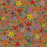 Vector flowers frame. Backgrounds. Vector illustration Royalty Free Stock Images