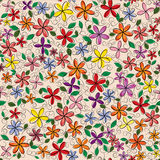 Vector flowers frame. Backgrounds. Vector illustration Stock Photos