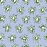 Vector flowers ornament on a blue background royalty free illustration