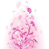 Vector flowers in pink stock illustration