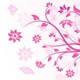 Vector flowers in pink royalty free illustration