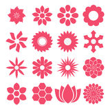 Vector of Flowers in pink Stock Images