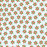 Vector flowers seamless pattern Stock Photo