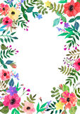 Vector flowers set. Colorful floral collection with leaves and f Vector Illustration