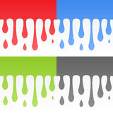 Vector flowing background set Royalty Free Stock Photography