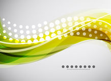 Vector flowing wave line background Stock Photos