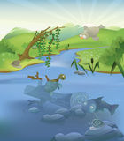 Vector Flusslandschaft