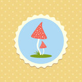 Vector Fly  Agaric Mushrooms Flat Design Illustration Royalty Free Stock Photo